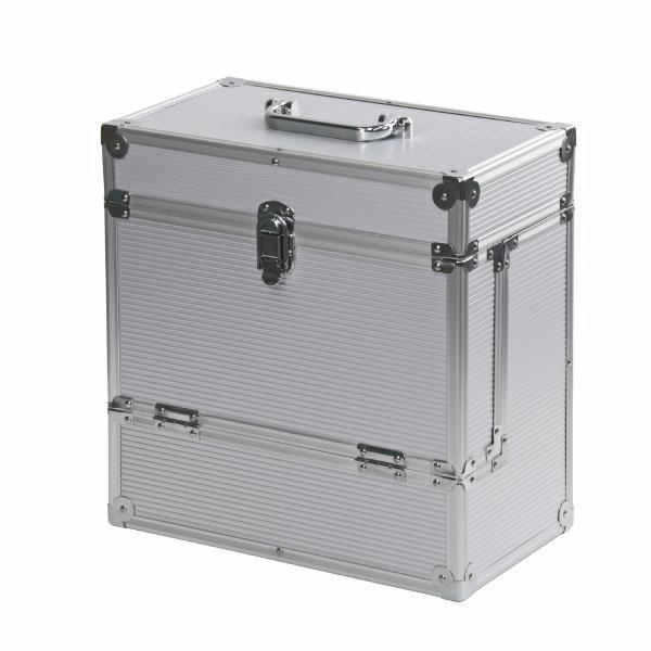 Подставка для виниловых пластинок Retro Musique Кейс Aluminium LP Vinyl Storage Case Silver (уценённый товар)
