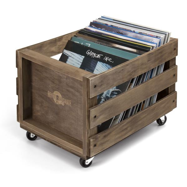 Подставка для виниловых пластинок Retro Musique LP Wood Crate For Vinyl Storage ruff maxx wire dog crate 36lx26wx26 5h