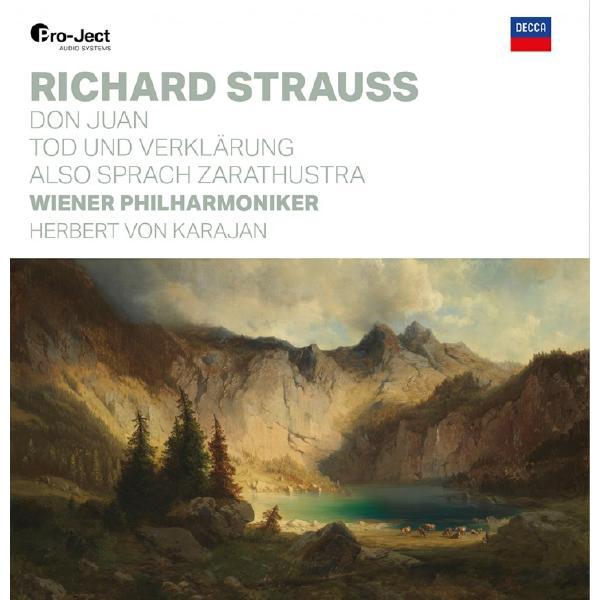 Strauss StraussRichard , Wiener Philharmoniker, Herbert Von Karajan - Don Juan, Tod Und Verklarung, Also Sprach Zaratustra (180 Gr, 2 LP)