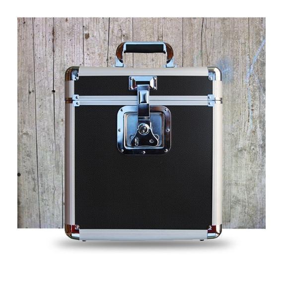 Подставка для виниловых пластинок Rock On Wall Кейс Aluminium Flight Case for 25 LPS Black