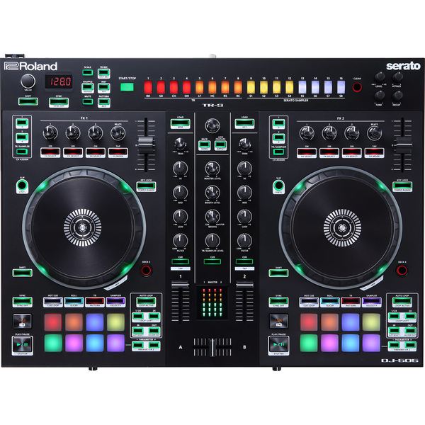 DJ контроллер Roland DJ-505 кейс для диджейского оборудования thon dj cd custom case dock