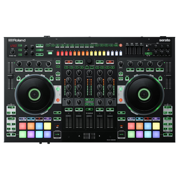 DJ контроллер Roland DJ-808 musiland 01us mark2 usb hifi external sound card hardware decoding dsd support 32bit 384khz