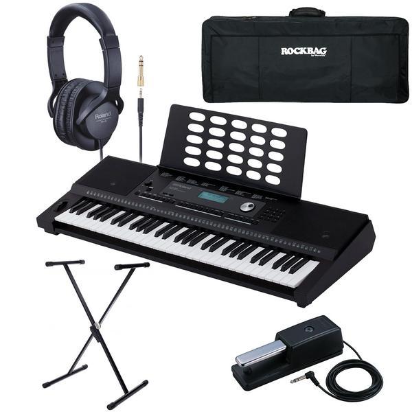 Синтезатор с аксессуарами Roland E-X20 Black (Bundle 1)
