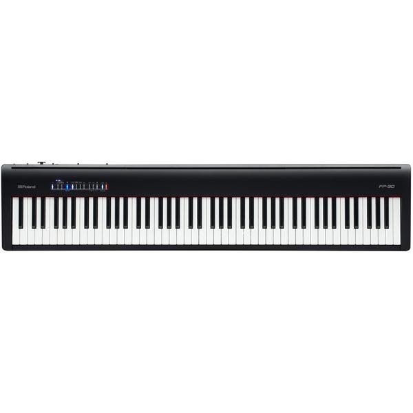 Цифровое пианино Roland FP-30-BK перкуссия и пэд roland spd 30 bk octapad