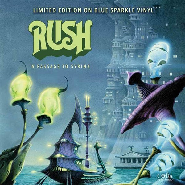 RUSH RUSH - A Passage To Syrinx (colour) middle eastern patterns to colour