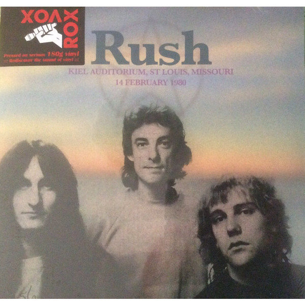 RUSH RUSH - Kiel Auditorium, St Louis, Mo, February 14 1980 (2 LP) rush rush hold your fire lp