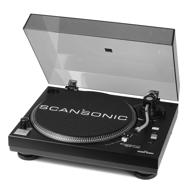 Виниловый проигрыватель Scansonic USB100 Black