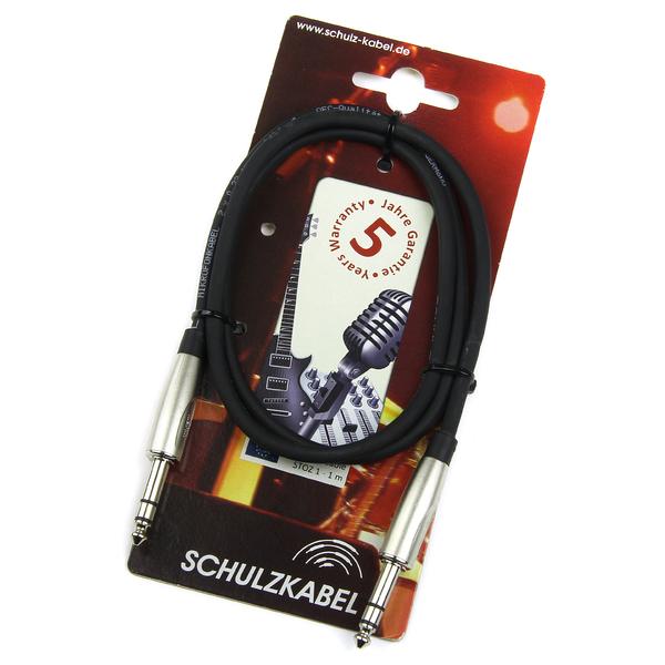 Кабель Jack-Jack Schulz Кабель межблочный стерео Jack-стерео Jack  STOZ 1 m кабель jack jack vention кабель minijack jack 2 m