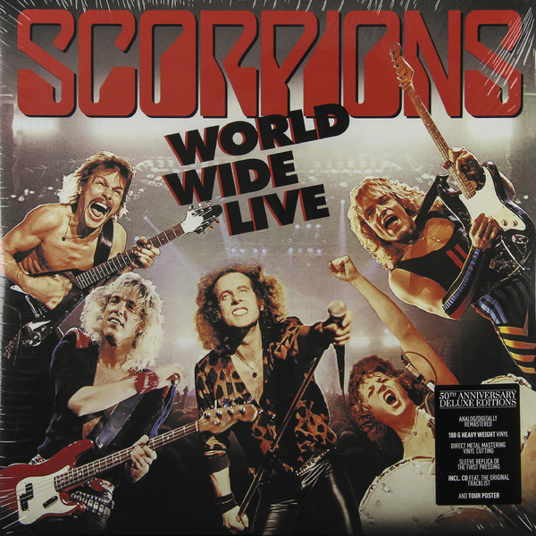 Scorpions Scorpions - World Wide Live (50th Anniversary Deluxe Edition) (2 Lp 180 Gr + Cd) cd scorpions taken by force 50th anniversary deluxe edition