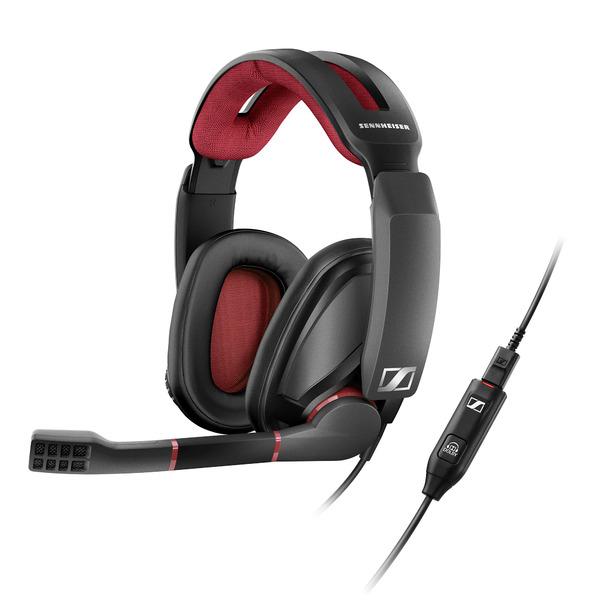 Фото - Охватывающие наушники Sennheiser Игровые наушники с микрофоном GSP 350 Black/Red наушники crown cmh 209t black