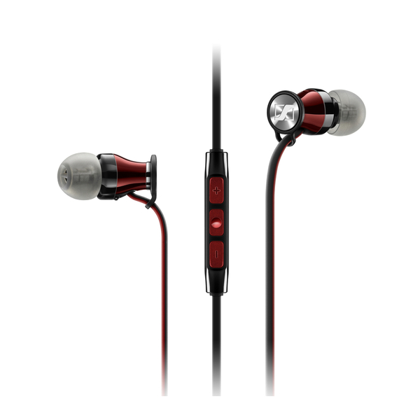 Внутриканальные наушники Sennheiser Momentum M2 IEG Black/Red гарнитура sennheiser momentum in ear m2 iei black red