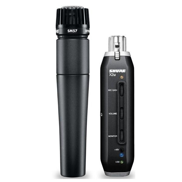 Инструментальный микрофон Shure SM57-x2u универсальный инструментальный микрофон audix f6