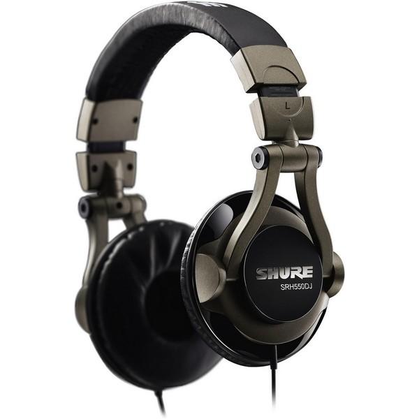 Охватывающие наушники Shure SRH550DJ Black/Silver shure cvb w o
