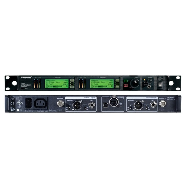 Приемник для радиосистемы Shure UR4D+ J5E 578 - 638 MHz shure mx150b o tqg