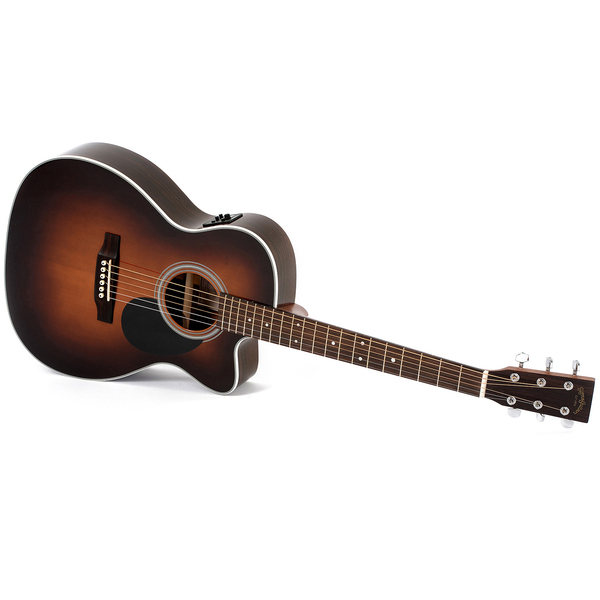 Гитара электроакустическая Sigma Guitars OMRC-1STE-SB newjimmy page number two guitars tea amber sunburst lp guitars one piece neck chrome hardware free shipping 100806