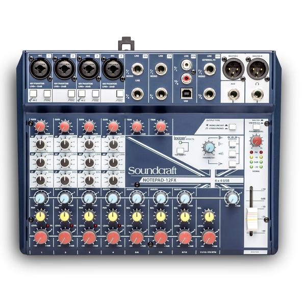 Аналоговый микшерный пульт Soundcraft Notepad-12FX аналоговый микшерный пульт soundcraft signature 12mtk
