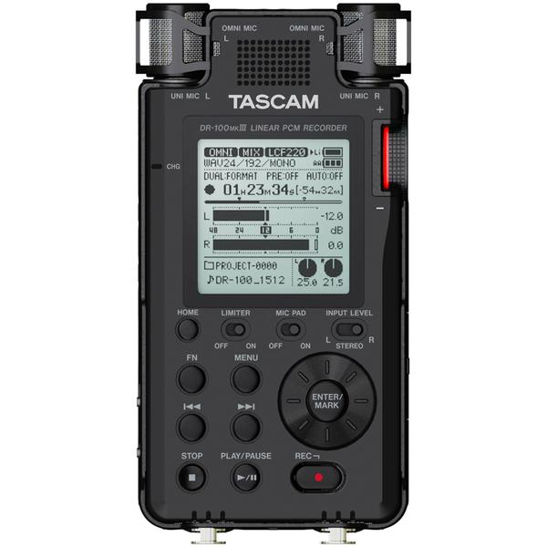 Портативный рекордер TASCAM DR-100MKIII tascam dr 05v2 a051766 цифровой диктофон black