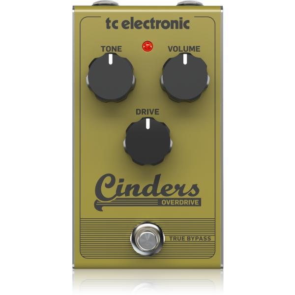 Педаль эффектов TC Electronic Cinders Overdrive педаль эффектов ernie ball expression overdrive