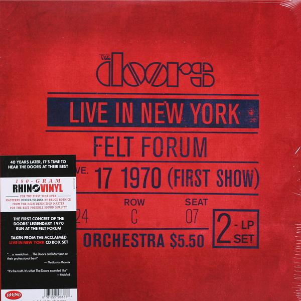 The Doors The Doors - Live In New York (2 Lp, 180 Gr) procol harum procol harum live in concert with the edmonton symphony 2 lp colour