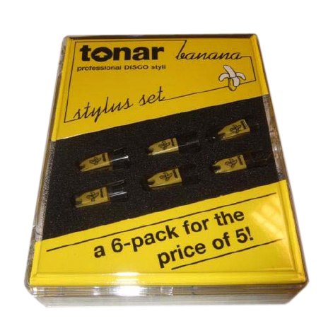 Игла для звукоснимателя Tonar Stylus Banana 6 Pack gold plated banana plug jack connector set golden 3 5mm 10 pairs