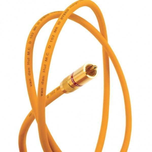 Кабель межблочный аналоговый RCA Van den Hul D-102 III Hybrid 1 m кабель межблочный аналоговый rca van den hul bay c5 hybrid 0 8 m
