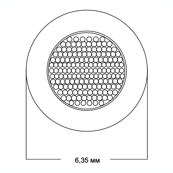 Кабель акустический в нарезку Van den Hul SCS-6 Cream кабель акустический в нарезку supra classic 6 0 mm