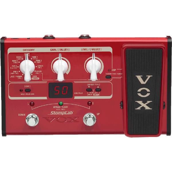 Гитарный процессор VOX Stomplab 2B педаль эффектов vox v845 wah
