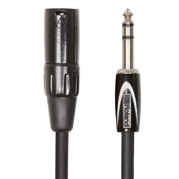 Фото - Кабель межблочный XLR-Jack Roland Кабель межблочный XLR-M-Jack RCC-5-TRXM 1.5 m кабель