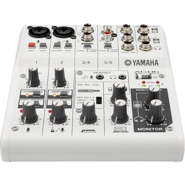 Аналоговый микшерный пульт Yamaha AG06 аналоговый микшер yamaha mg16xu