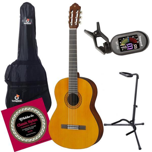 Классическая гитара с аксессуарами Yamaha C40 Natural (Bundle 1)