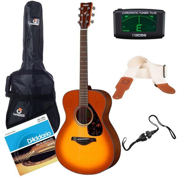 Акустическая гитара с аксессуарами Yamaha FS800 Sand Burst (Bundle 1)