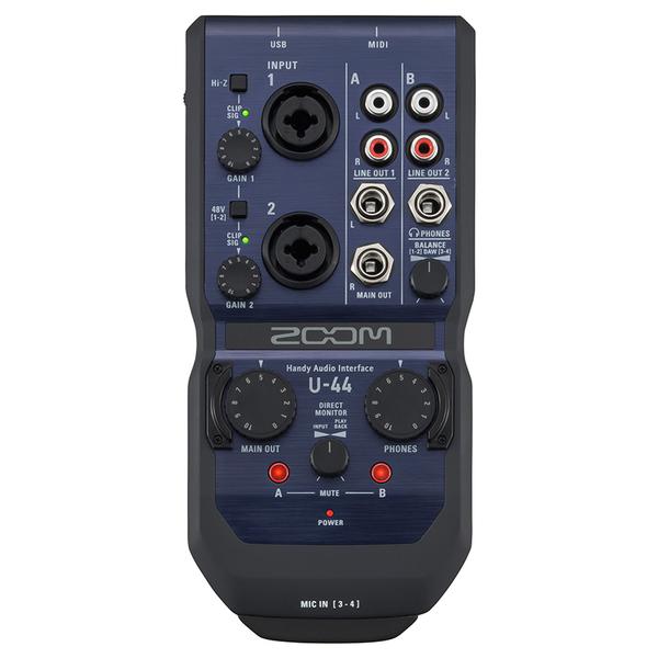 Внешняя студийная звуковая карта Zoom U-44 аудиоинтерфейс zoom tac 8