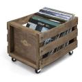 Retro Musique LP Wood Crate For Vinyl Storage